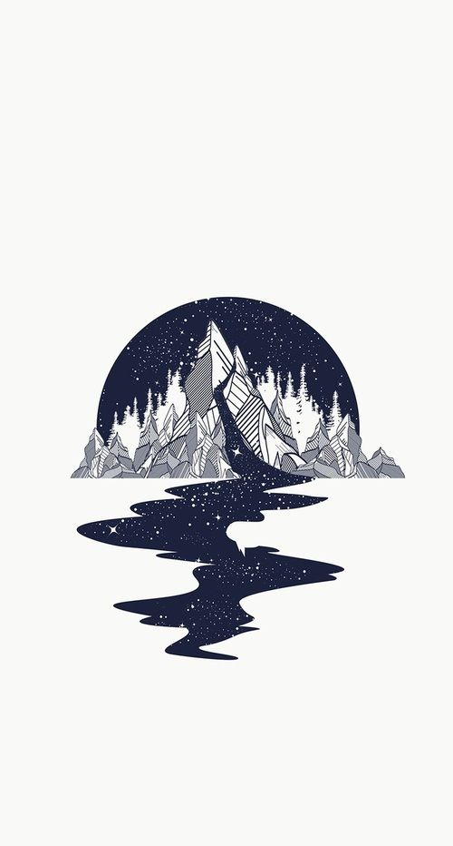 art, wallpaper, and mountains image