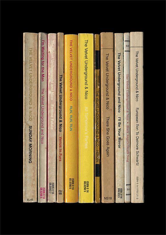 Velvet Underground Poster Print 'The Velvet Underground & Nico' Andy Warhol Banana Album As Books Penguin Books