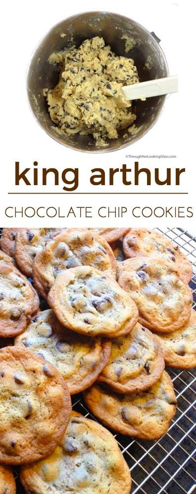 King Arthur Chocolate Chip cookies. Love the crispy outside, chewy inside. Great buttery flavor. Best chocolate chip cookie recipe ever from King Arthur Flour in Norwich, Vermont.