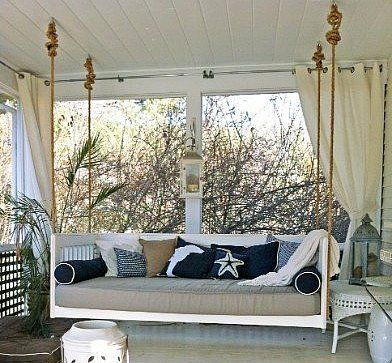 twin bed porch swing