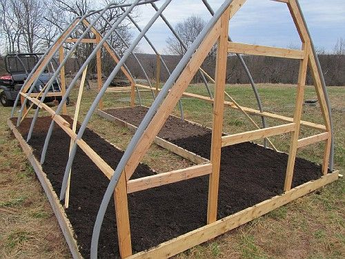 Small hoop house build. - Homesteading Today.