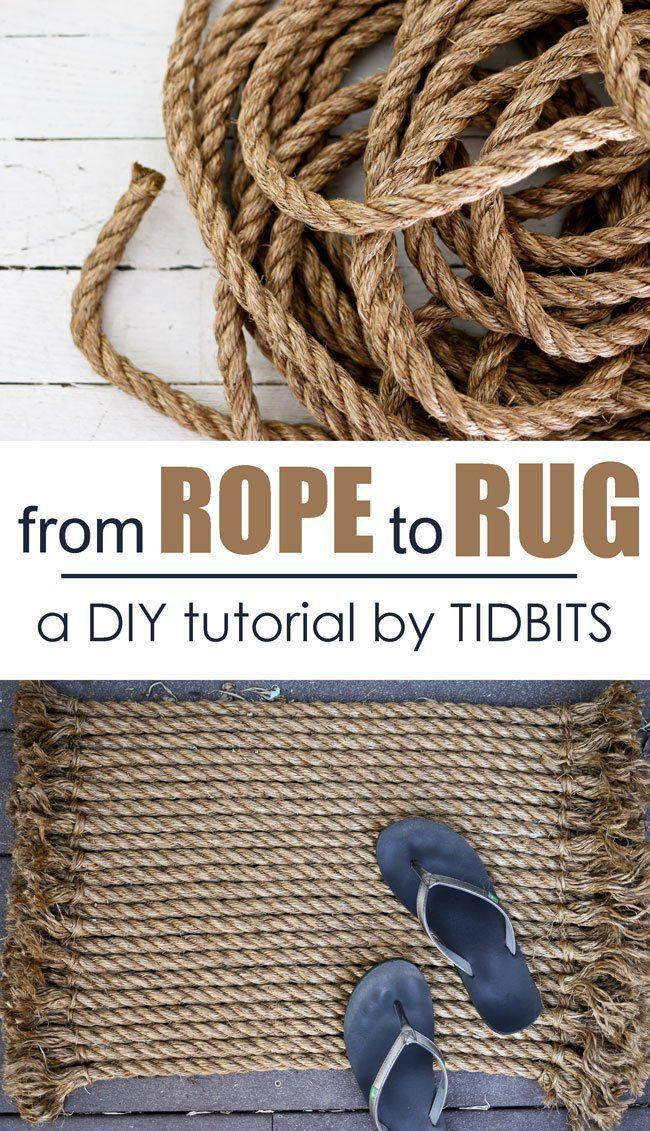 Wie man Seil zu einem schönen Teppich macht