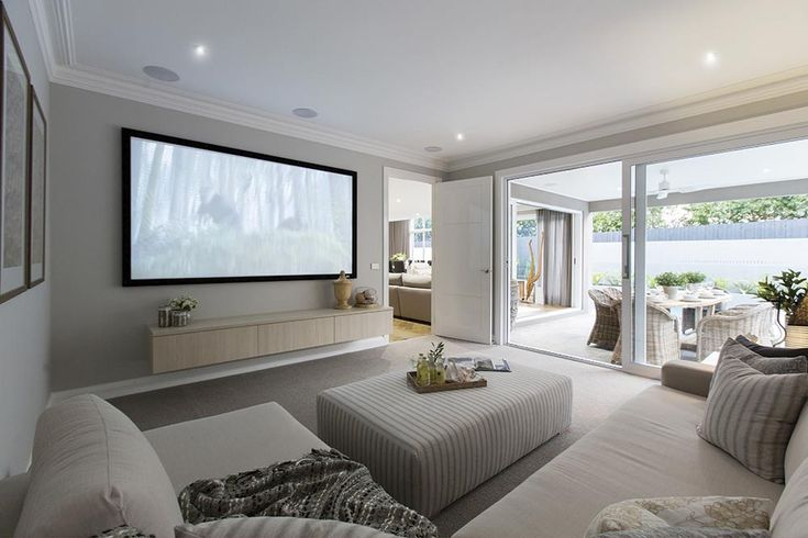 Theatre room on the Brookwater display with a Classic Hamptons World of Style.