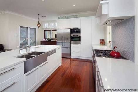 kitchen white jarrah floors - Google Search