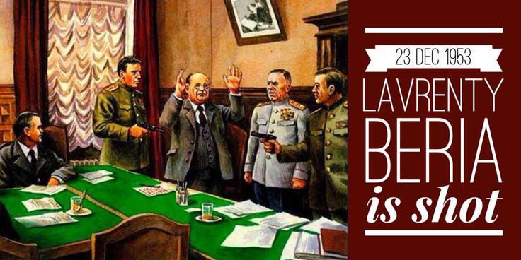 23 December 1953. Lavrenty Beria is found guilty of treason and shot in Lubyanka cellar by general Pavel Batitsky. Pic via Белорусская военная газета