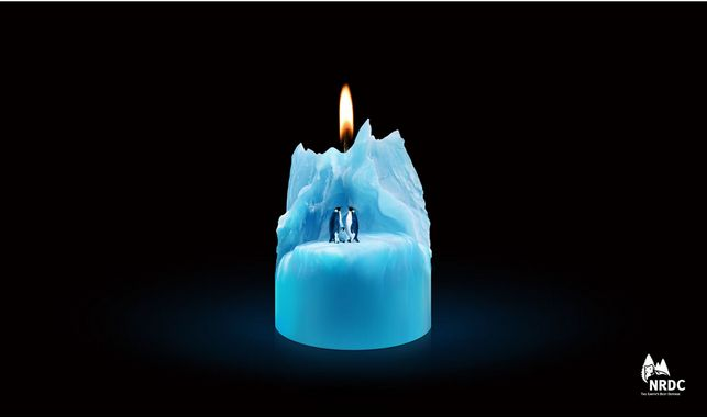 For the Natural Resources Defense Council by Beijing Dentsu Advertising Co., Ltd. #candle #iceberg #greatad #savetheplanet #climatechange