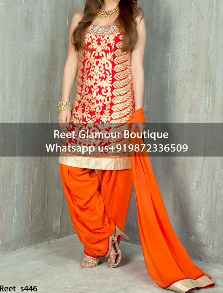 Attractive Orange Embroidered Punjabi Suit Product Code : Reet_s446 To Order, Call/Whats app On +919872336509 We Offer Huge Variety Of Punjabi Suits, Anarkali Suits, Lehenga Choli, Bridal Suits,Sari, Gowns Etc .We Can Also Design Any Suit Of Your Own Design And Any Color Combination.