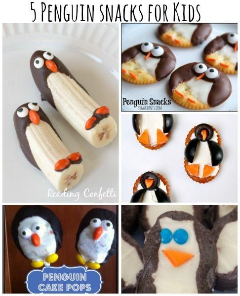 Cute penguin snack treats .What kids wouldn't love these? more penguin sancks --> http://wonderfuldiy.com/wonderful-diy-cute-penguin-snacks/