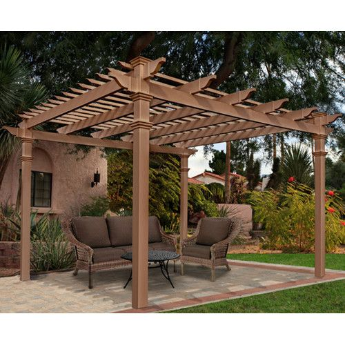 Found it at Wayfair - Arcadia 10 Ft. W x 10 Ft. D Cedar Pergola