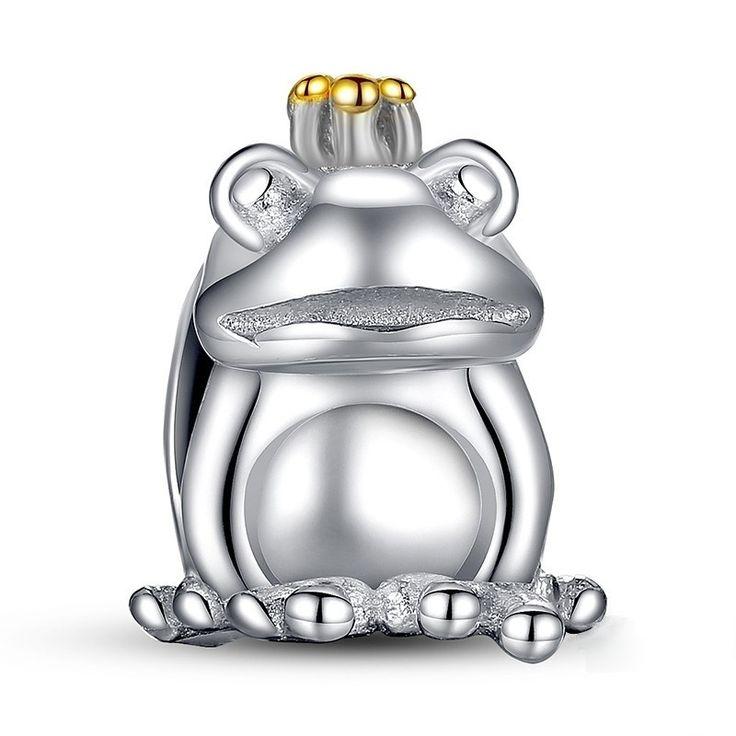 Charm : 925 Sterling Silver The Frog Prince Bracelet Charm #jewelry #fashion #style #charm # bracelet #silver #prom #teenfashion