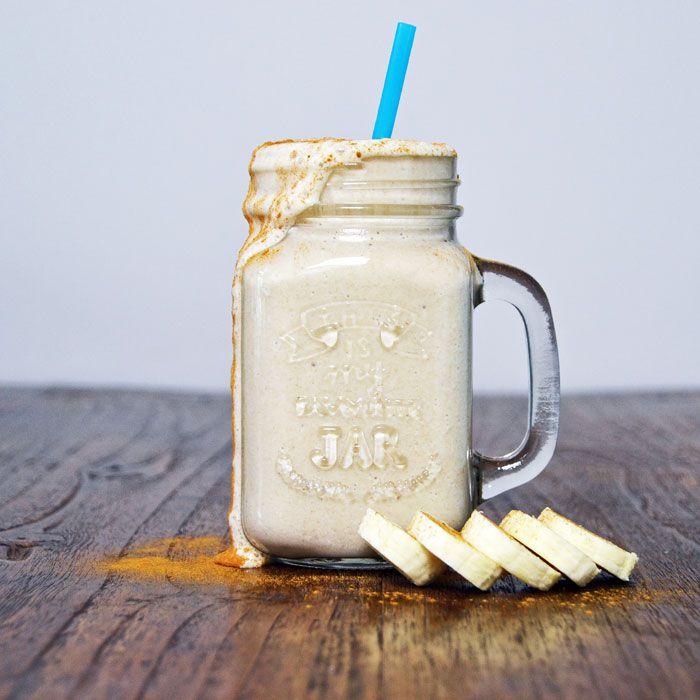 The ultimate banana smoothie with frozen banana, cinnamon and vanilla.