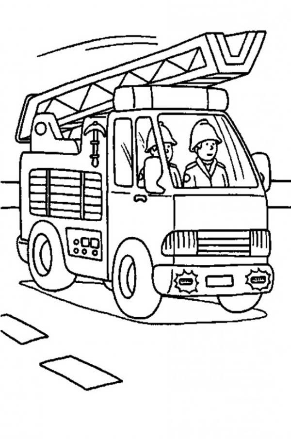 Fire Truck Is On The Way Coloring Page In 2020 Truck Coloring Pages Coloring Pages Printable Coloring Pages
