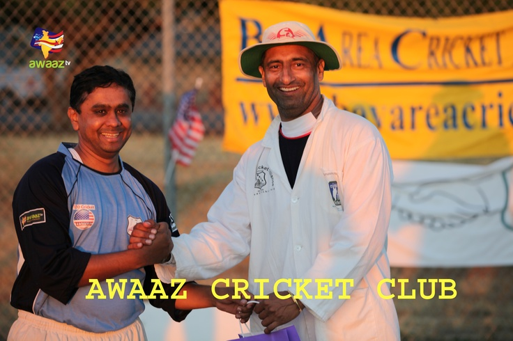 Rajendra B (Left) - Former US regional coach & BACA Gladiators player, KV (Right) - BACA umpiring committee head.