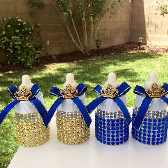 12 Small Royal Blue Baby Shower Favors   Little Prince Blue And Gold  Royal  Prince Baby Shower  Royal Blue And Gold Baby Shower