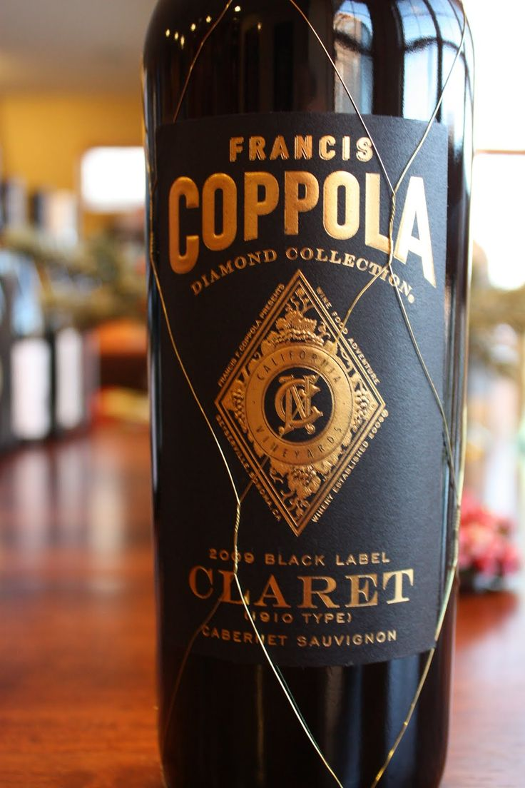 It is a graphic of Challenger Coppola Claret 2009 Black Label