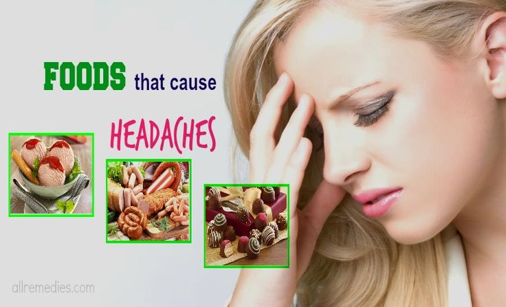20 common foods that cause headaches and migraines