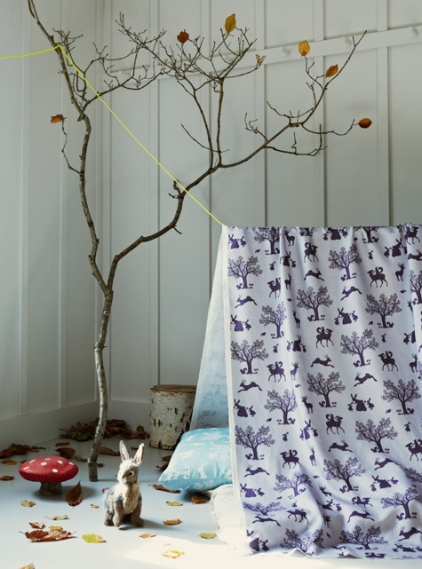 Hibou Home,  Enchanted Forest print, new textiles from this kids wallpaper specialist