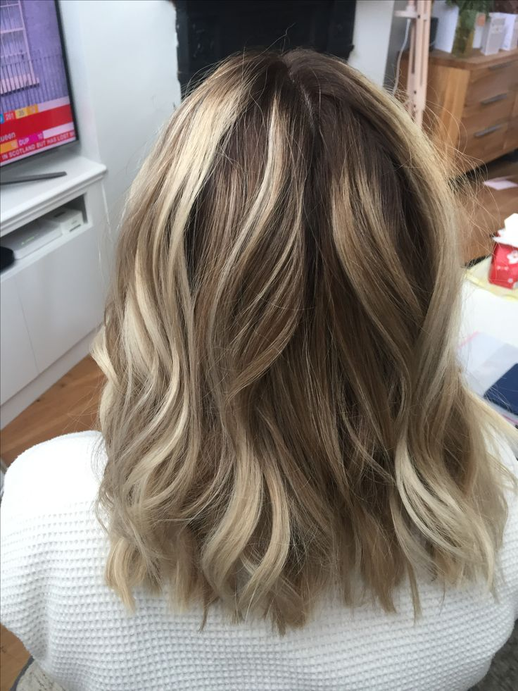 Blonde textured Balayage using L'Oréal, waves created using GHD irons