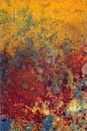 Grunge vintage rusty metal plate texture