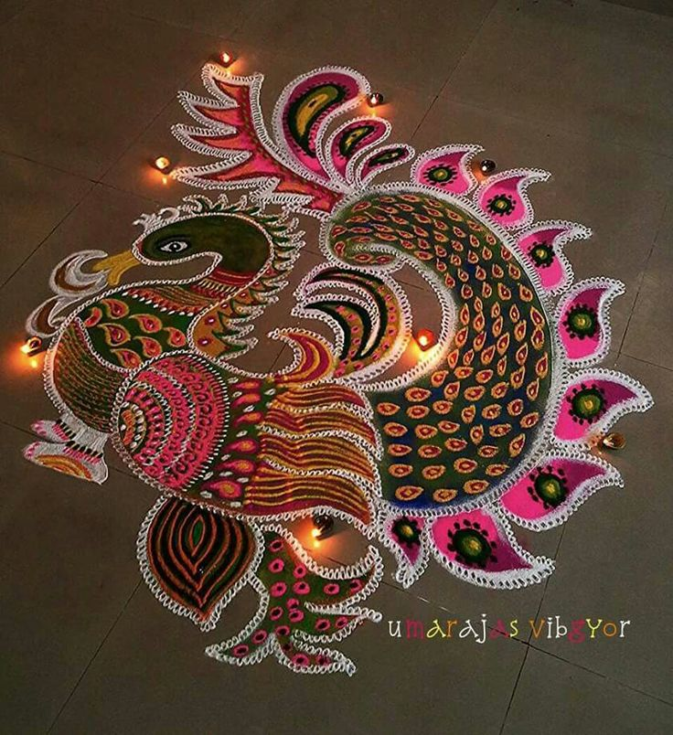Get the best and latest Diwali rangoli