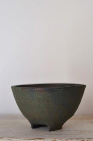 s-c-r-a-p-b-o-o-k:    緑青彩飯碗 径11cm 高さ6.5cm