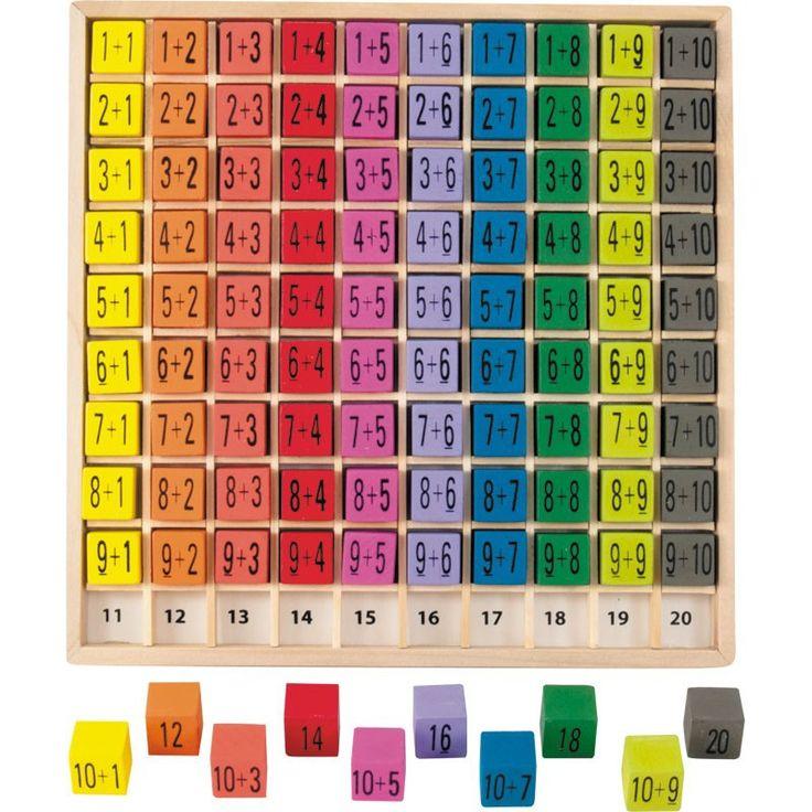 Les 25 meilleures id es de la cat gorie jeux d 39 addition for Apprendre ses tables