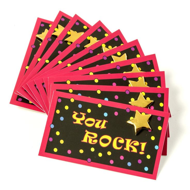 you rock cards and gold star lapel pins set of 10 each find this pin and more on employee recognition ideas