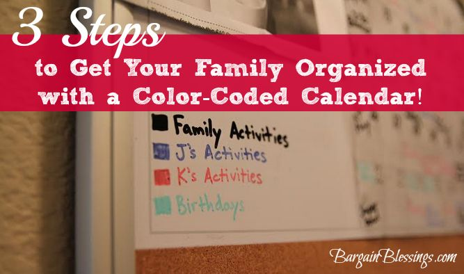 A color coded calendar! Why didn't I think of that! I'm SO excited to try this!