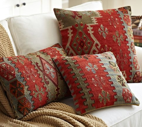 guestroom 2 accent pillows eve kilim pillow covers pottery barn project. Black Bedroom Furniture Sets. Home Design Ideas