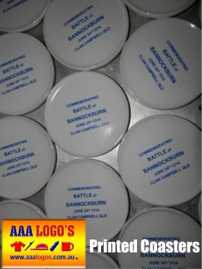 Printed Coasters Or Engraved Coasters,  Get your brand or event out there with our huge range of coaster ideas for pricing see our webpage http://www.aaalogos.com.au/coasters.htm