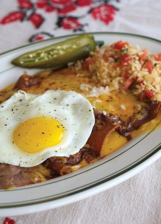 Cheese Enchiladas With Chili Con Carne Recipes — Dishmaps