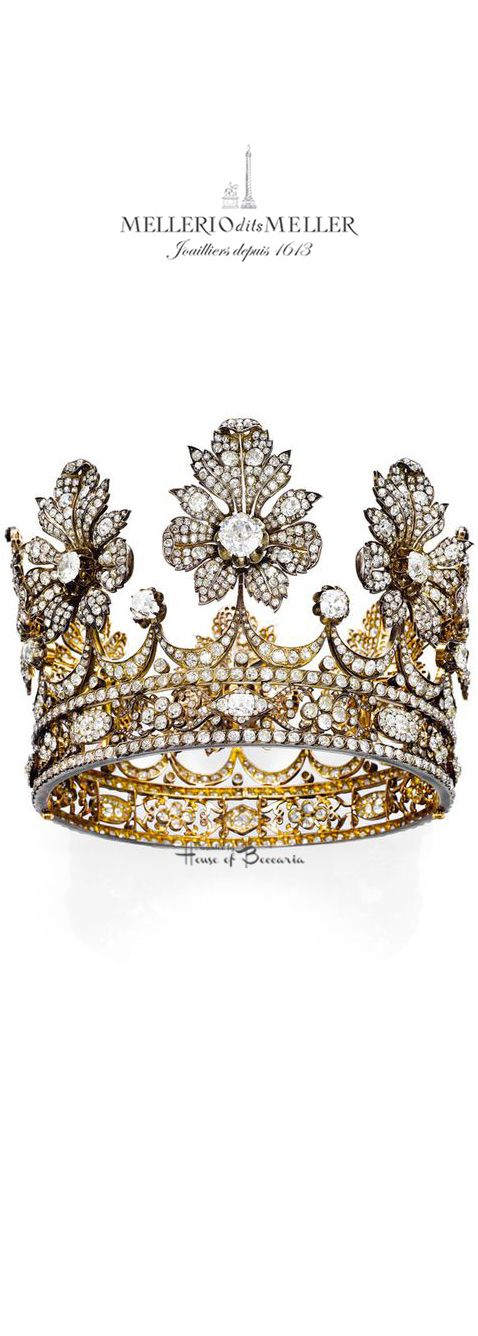 ~Diamond crown created by Mellerio dits Meller for a Spanish ducal family in the second half of the 19th century | House of Beccaria