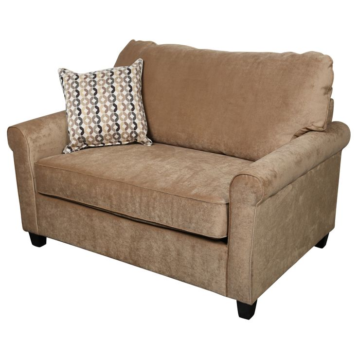 Porter Lily Twin Sleeper Sofa with Woven Accent Pillow