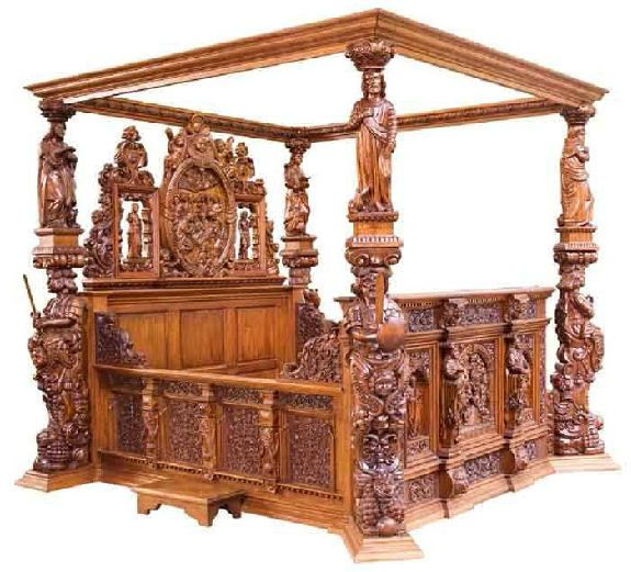 Wooden Bed With Carving Design : Custom furniture, Carved wood and Wood furniture on Pinterest