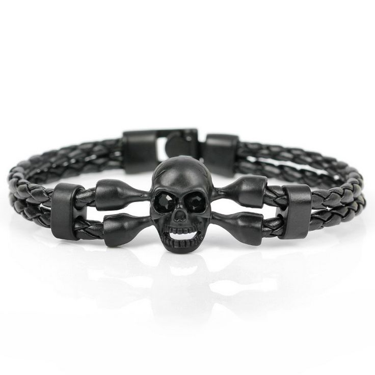 Pop Skull Leather Knighthood Bracelet //Price: $12.69 & FREE Shipping //     #skull #skullinspiration #skullobsession #skulls