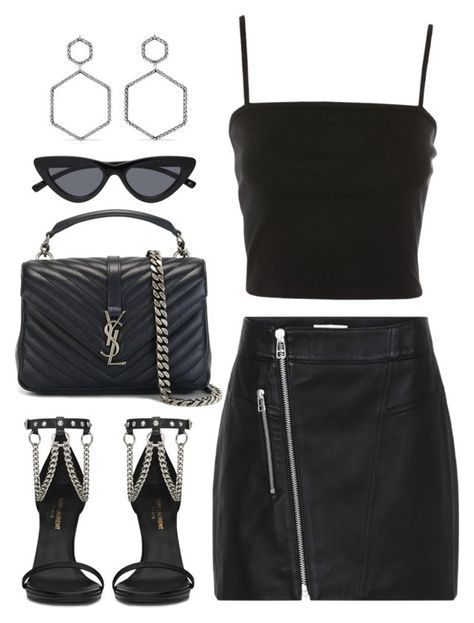 """""""Untitled #3687"""" by camilae97 ❤ liked on Polyvore featuring Topshop, Yves Saint Laurent and Isabel Marant"""