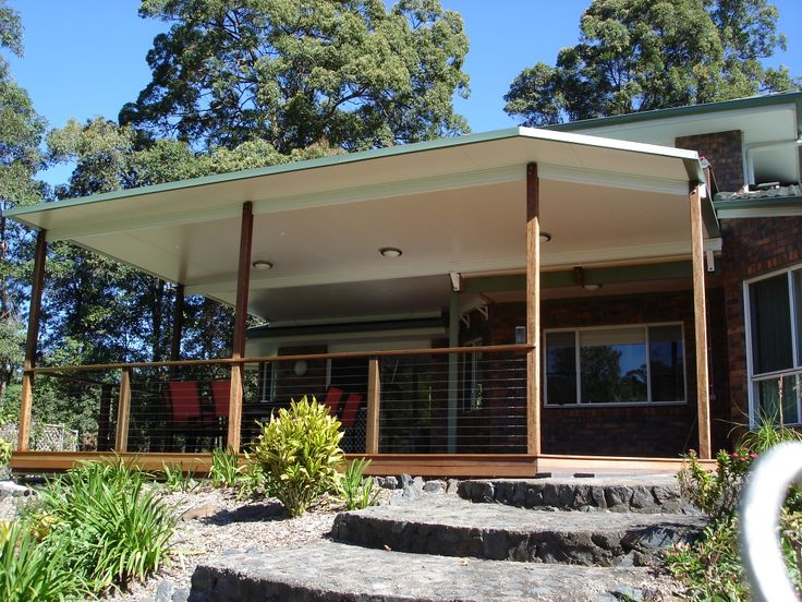SolarSpan flyover patios provides extra height, air flow and maintains a comfortable and clean looking outdoor area.