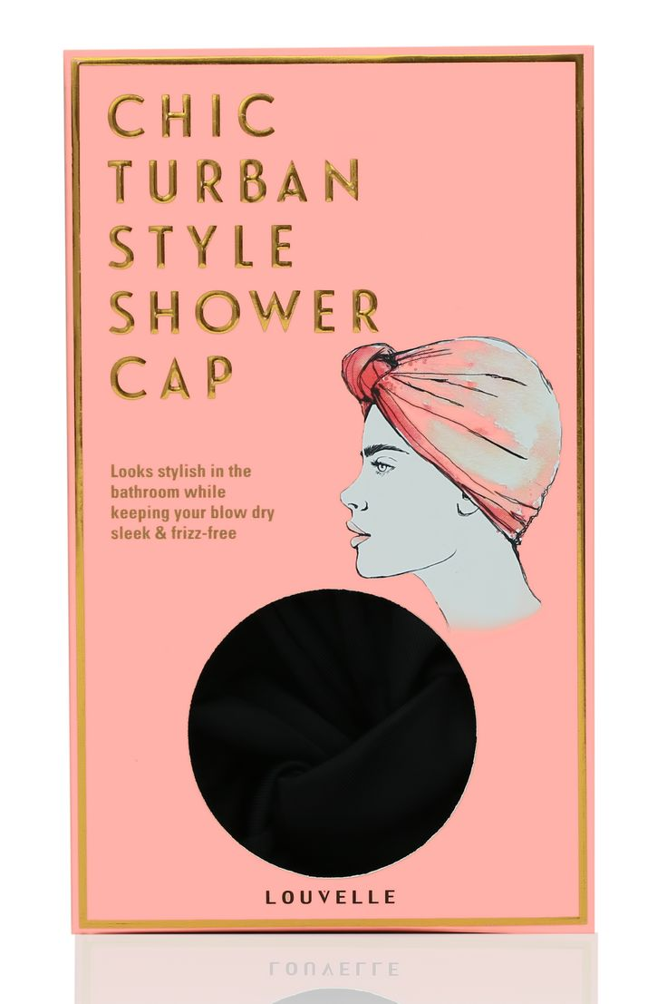 Shower cap in Black Turban Style