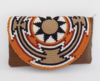 """""""оригинальный"""" средний Wayuu клатч + """"бесплатно"""" Wayuu браслет + """"бесплатно"""" доставка США + +"""