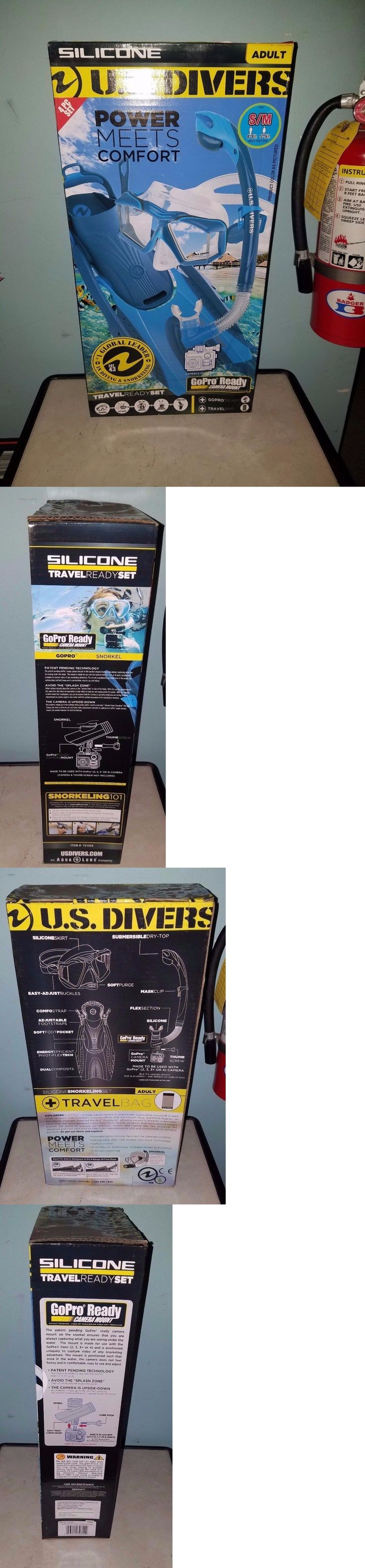 Snorkels and Sets 71162: U.S. Divers Gopro Ready 4Pc Snorkel Set, Adult Small, Blue, Nib -> BUY IT NOW ONLY: $30 on eBay!