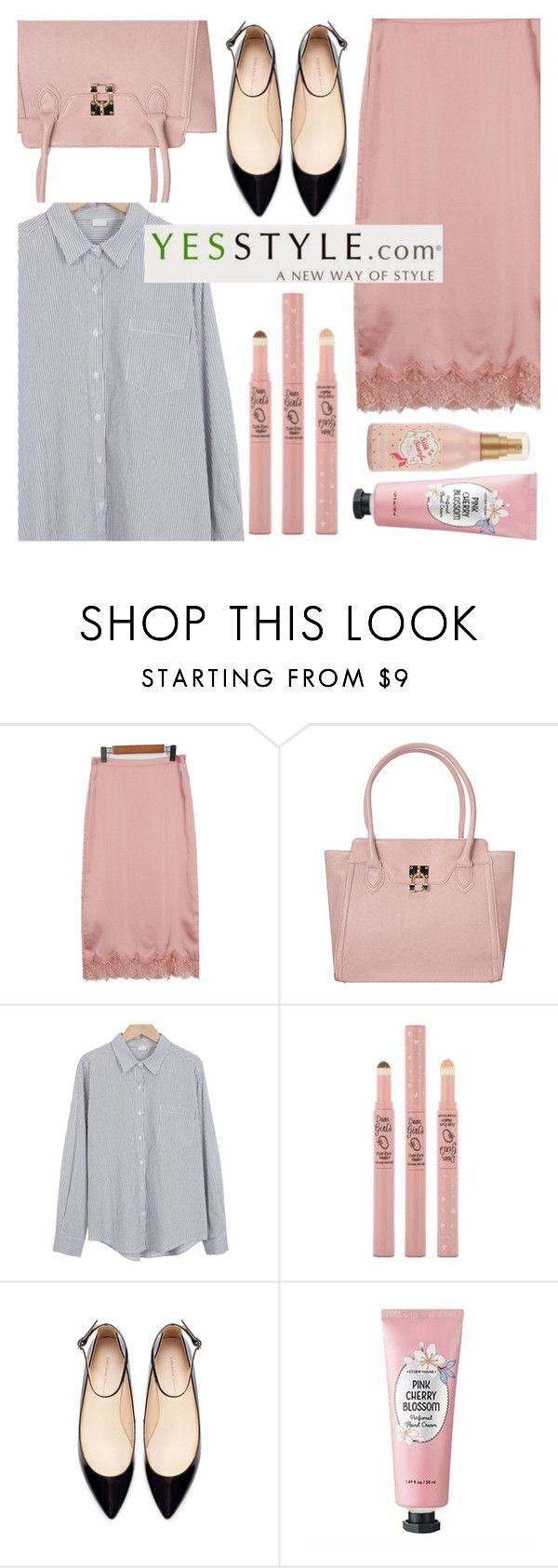 """No 462:Join the YesStyle – Show us your Kpop fashion and WIN US$40 YesStyle coupon! (4)"" by lovepastel ❤ liked on Polyvore featuring ANS, Zara and Etude House"