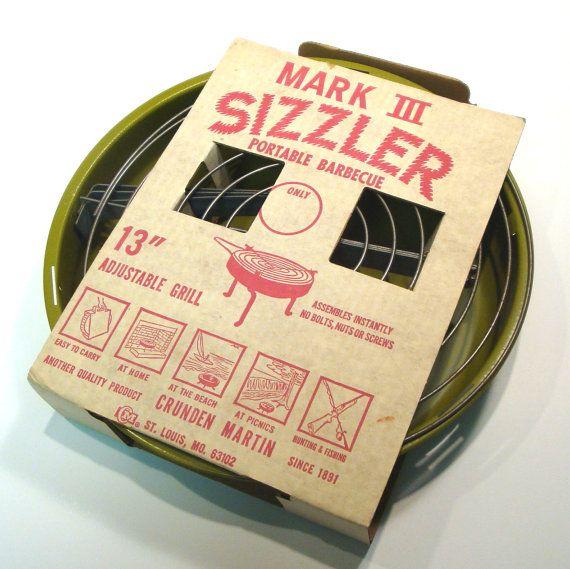 Vintage 1960s Mark III Sizzler Portable Adjustable Grill by VintageCreekside, $38.00
