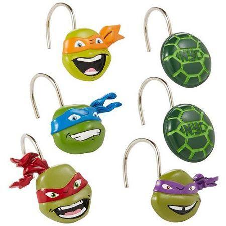 Nickelodeon Teenage Mutant Ninja Turtles Shower Curtain Hooks - Walmart.com