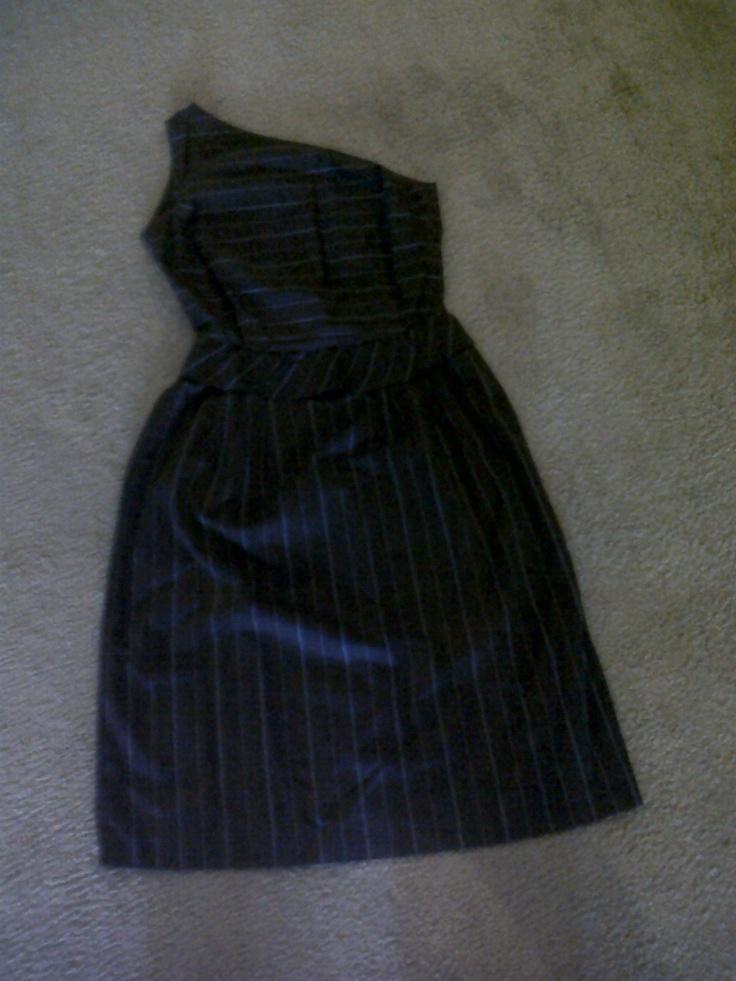 One shoulder 70s summer dress