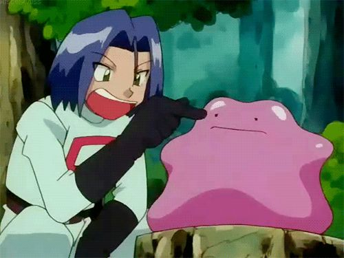 James, Team Rocket, Ditto, funny, gif; Pokemon