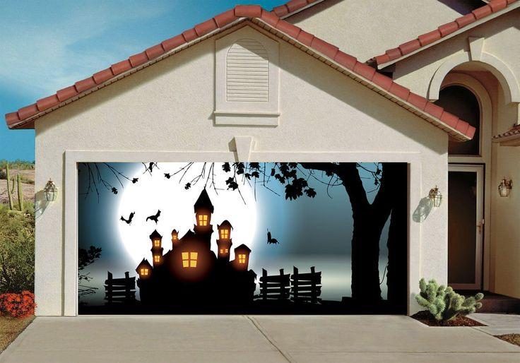 dfa40a39461e535b17d62191eb4bf758 night skies halloween garage door