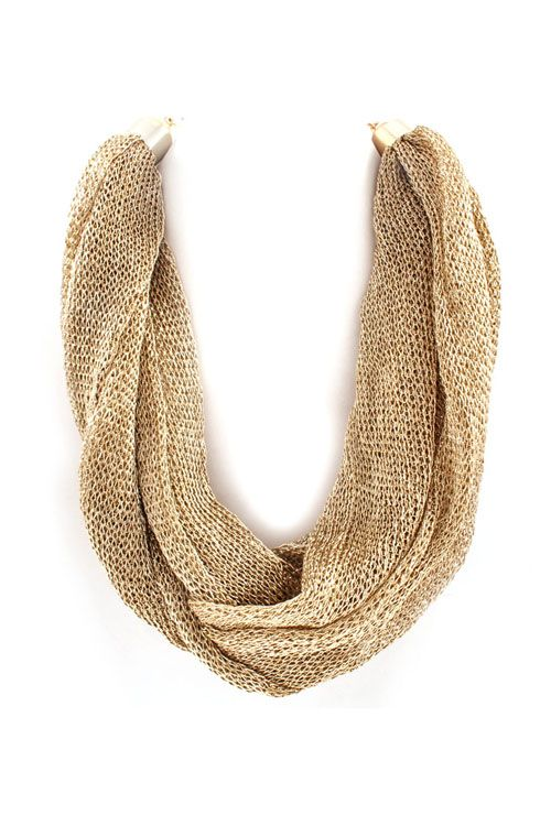 Mesh Rella Necklace in Gold IMPERFECT on Emma Stine Limited
