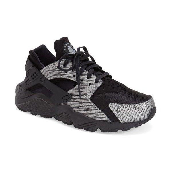 Nike 'Air Huarache' Sneaker ($120) ❤ liked on Polyvore featuring shoes, sneakers, nike sneakers, lightweight shoes, synthetic shoes, nike shoes and laced up shoes