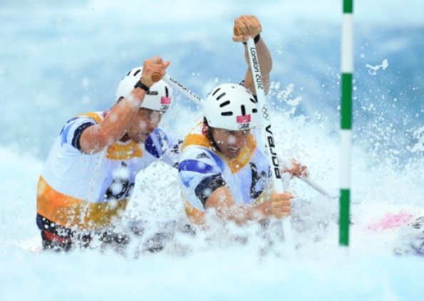 David Florence and Richard Hounslow SILVER in the two-man canoe slalom. Picture: PA