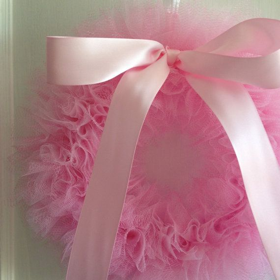 Pink Ballerina Party Tutu Wreath/ It's a Girl Wreath door shopfluff
